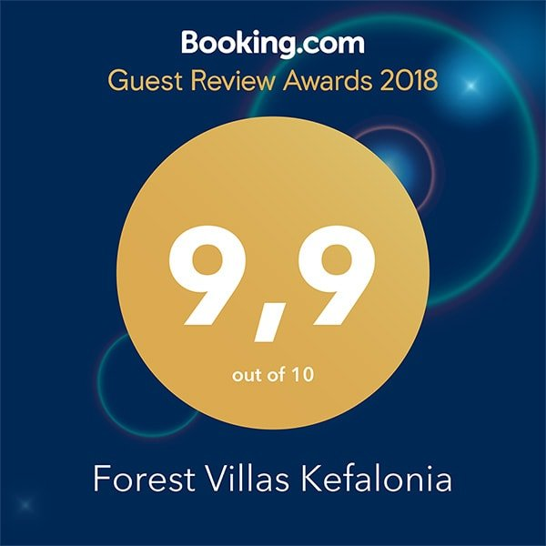 Forest Villas Kefalonia Booking.com Award