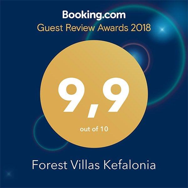 Forest Villas Kefalonia Booking.com Award